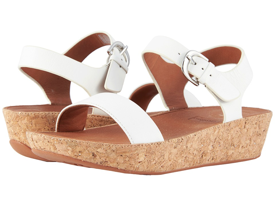 1940s Style Shoes, 40s Shoes FitFlop - Bon II Back Strap Sandals Urban White Womens Sandals $129.95 AT vintagedancer.com