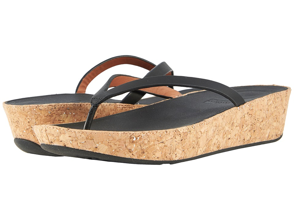 FitFlop - Linny Toe Thong Sandals (Black) Womens Sandals