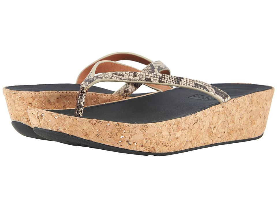 FitFlop Linny Toe Thong Sandals (Taupe Snake) Sandals