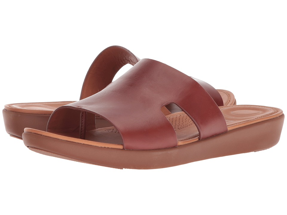 FitFlop - H-Bar Slide Sandals (Cognac) Womens Sandals