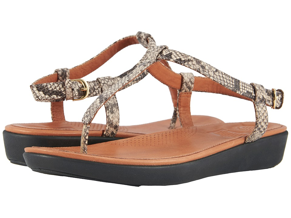 FitFlop - Tia Toe Thong Sandals (Taupe Snake) Women's Sandals
