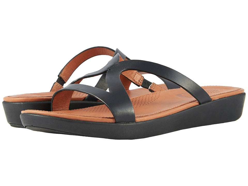 FitFlop - Strata Slide Sandals (Black) Womens Sandals