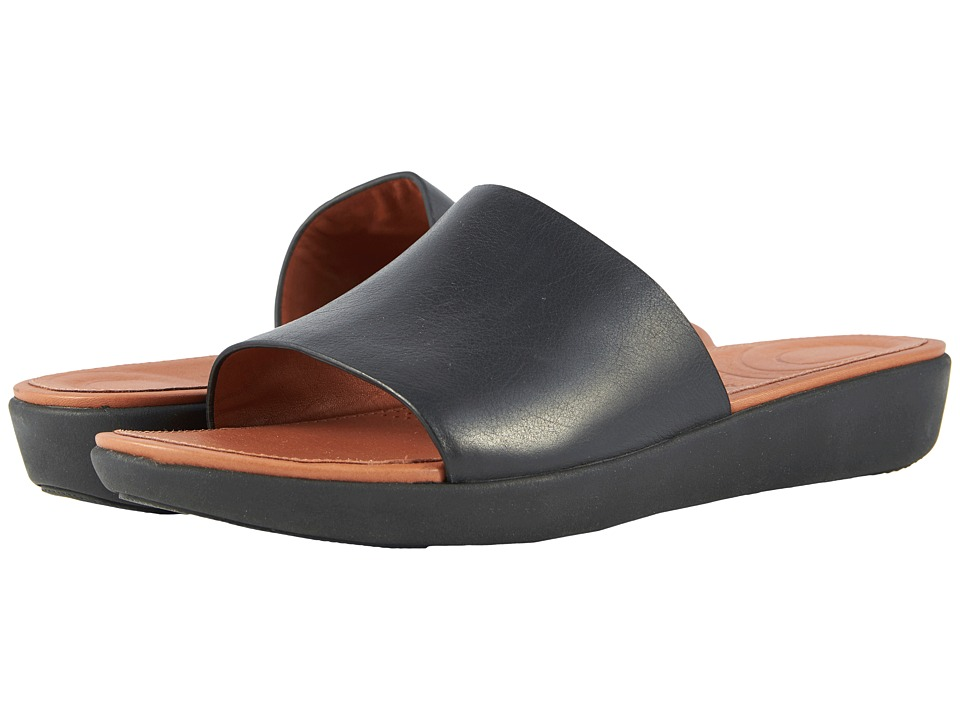 FitFlop - Sola Slides (Black) Womens Sandals