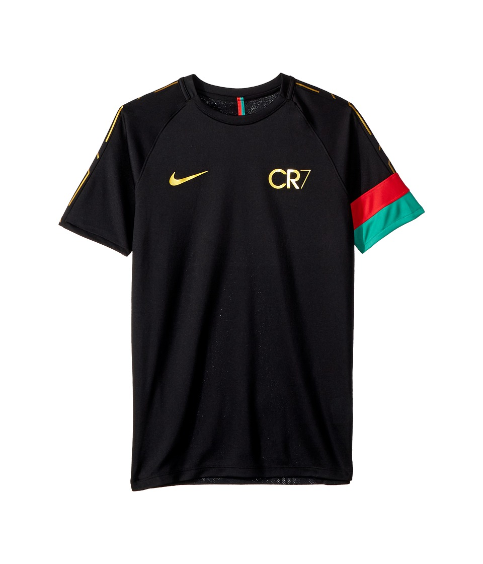 Nike Kids - CR7 Dry Academy Short Sleeve Top (Little Kids/Big Kids) (Black/Metallic Gold/Metallic Gold) Boys T Shirt