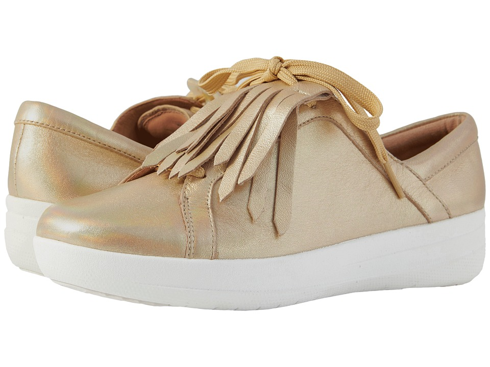 FitFlop - F-Sporty II Lace-Up Fringe Sneakers (Gold Iridescent) Womens Sandals