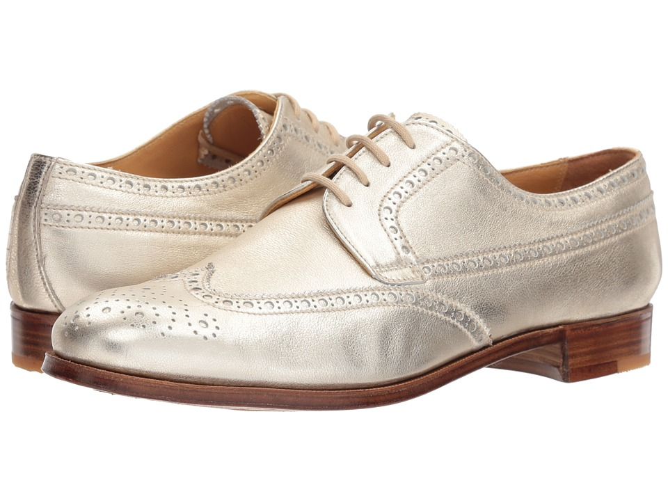 Gravati - Calf Leather Wing Tip (Gold) Womens Lace Up Wing Tip Shoes