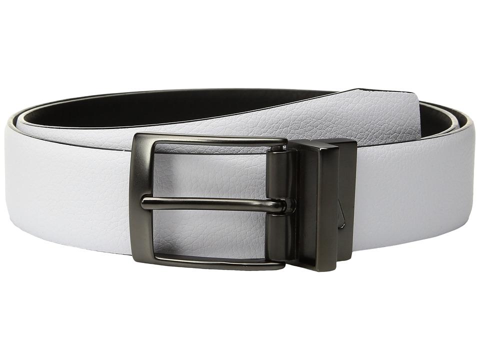 Nike - Pebble Feather Edge Reversible (White/Black) Men's Belts