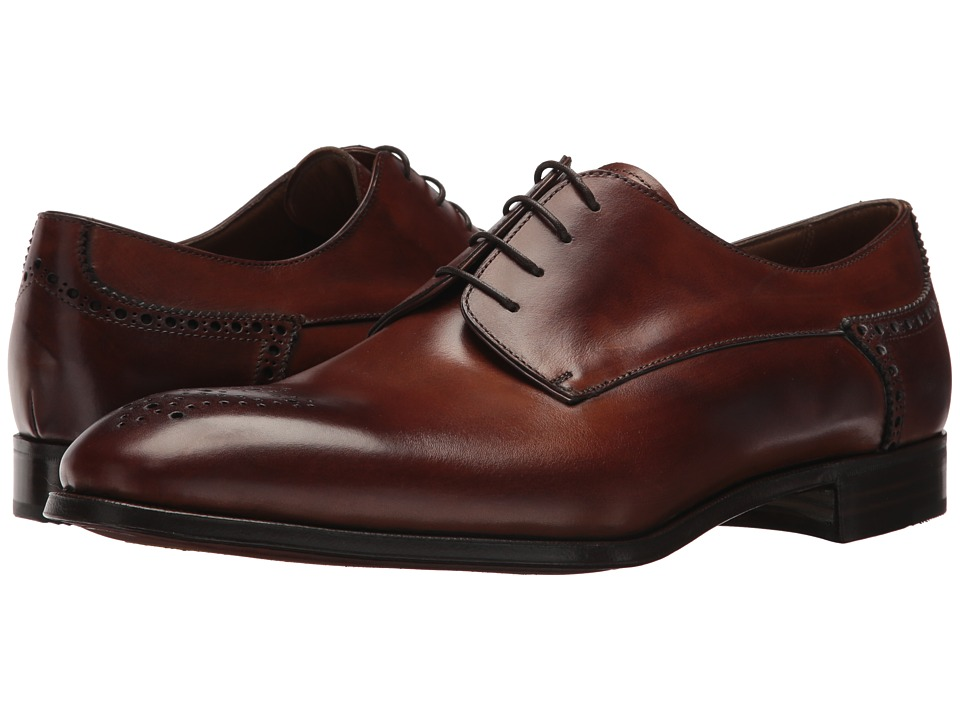 Gravati - Plain Toe 4 Eyelet Blucher (Caramel) Mens Shoes