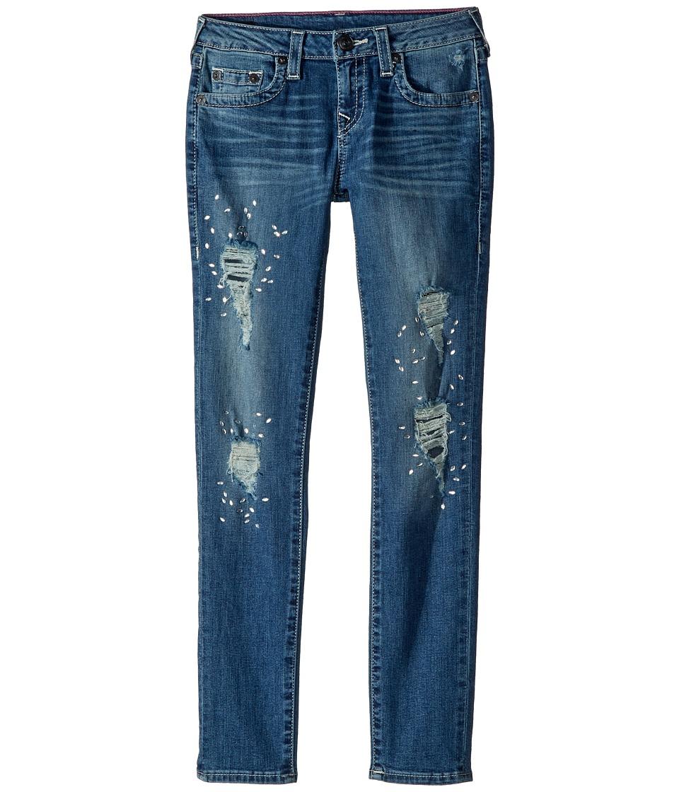 True Religion Kids Casey Skinny Jeans in Diamond Blue (Big Kids) (Diamond Blue) Girl