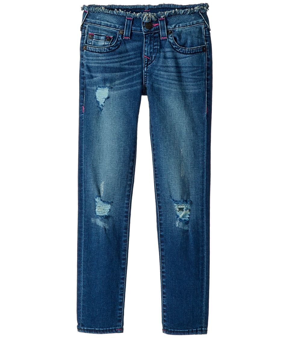 True Religion Kids Casey Skinny Jeans in Vintage Pink (Big Kids) (Vintage Pink) Girl