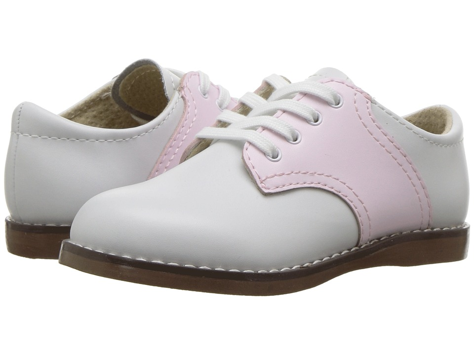 FootMates - Cheer 3 (Toddler/Little Kid) (White/Rose) Girls Shoes
