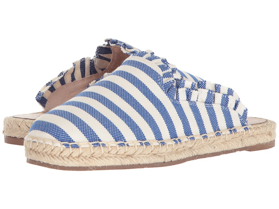 Kate Spade New York Laila (Blue/Cream Striped Canvas) Women's Shoes