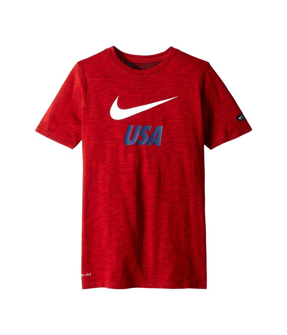 Nike Kids - U.S. Dri-FIT Soccer T-Shirt (Little Kids/Big Kids) (University Red) Boys T Shirt