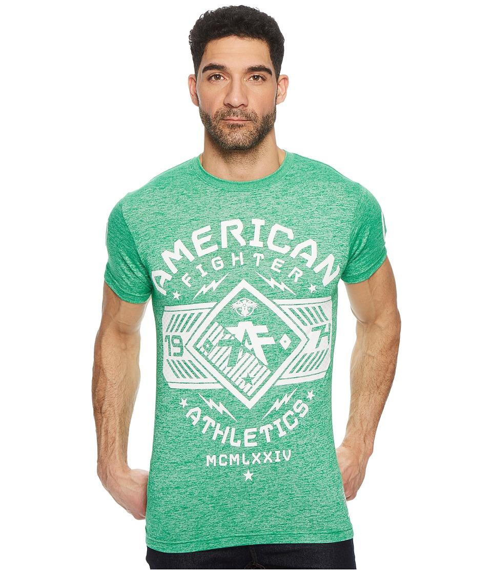 American Fighter - Hartwick Short Sleeve Tetris Mock Twist Tee (Kelly Green) Mens T Shirt