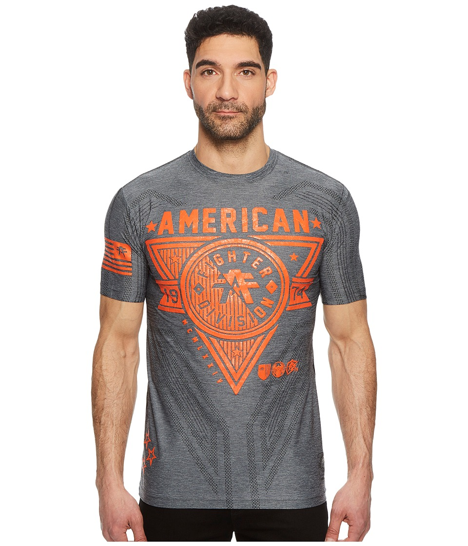 American Fighter - Siena Heights Short Sleeve Mesh Tee (Heather Grey) Mens T Shirt