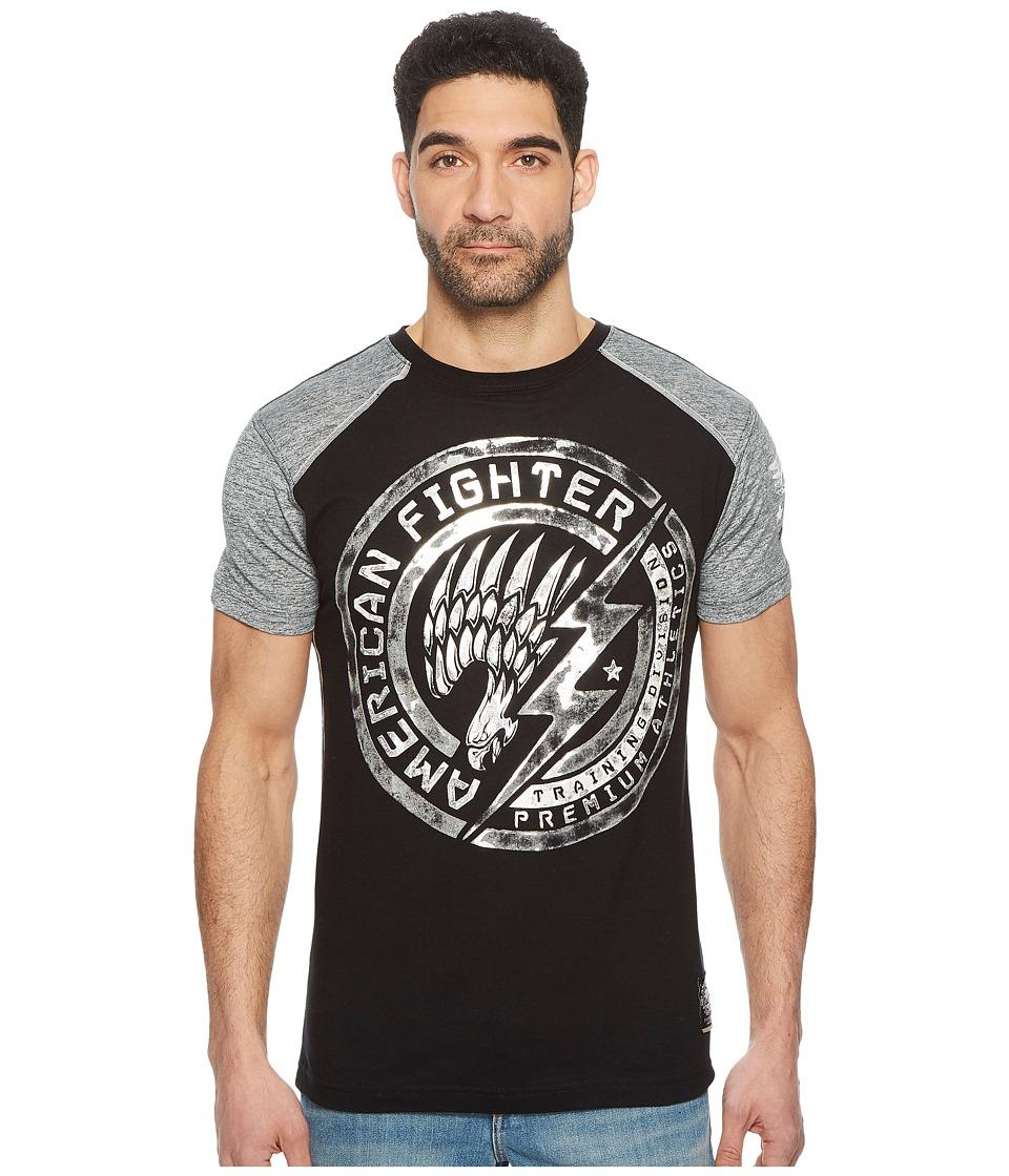 American Fighter - Lakeland Artisan Short Sleeve Football Tee (Black/Blade) Mens T Shirt