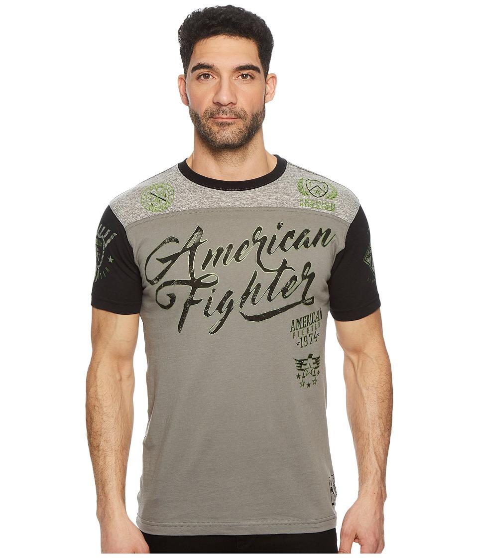 American Fighter - Trinity Short Sleeve Football Tee (Graphite/Black) Mens T Shirt