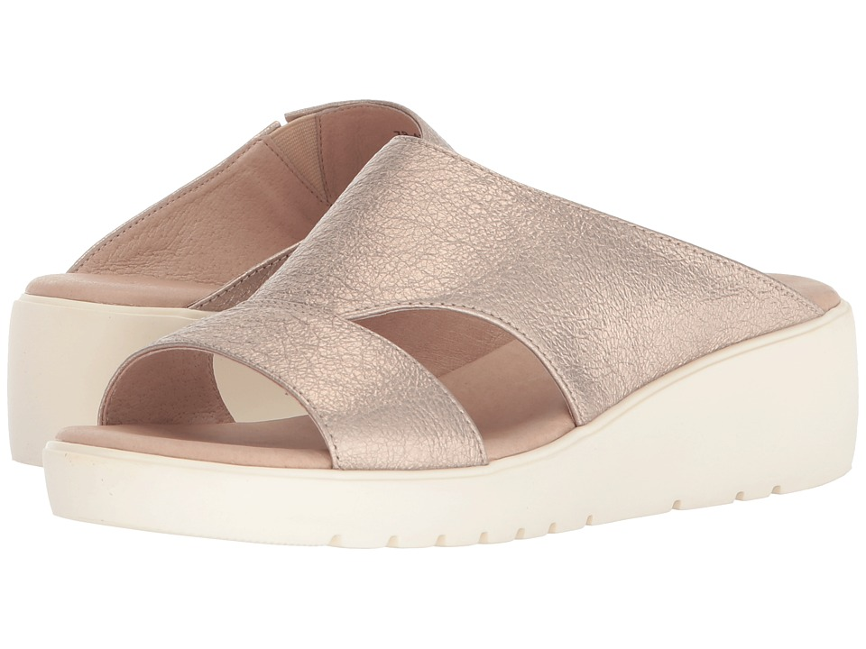 Johnston & Murphy - Carly (Champagne Metallic Leather) Womens Sandals