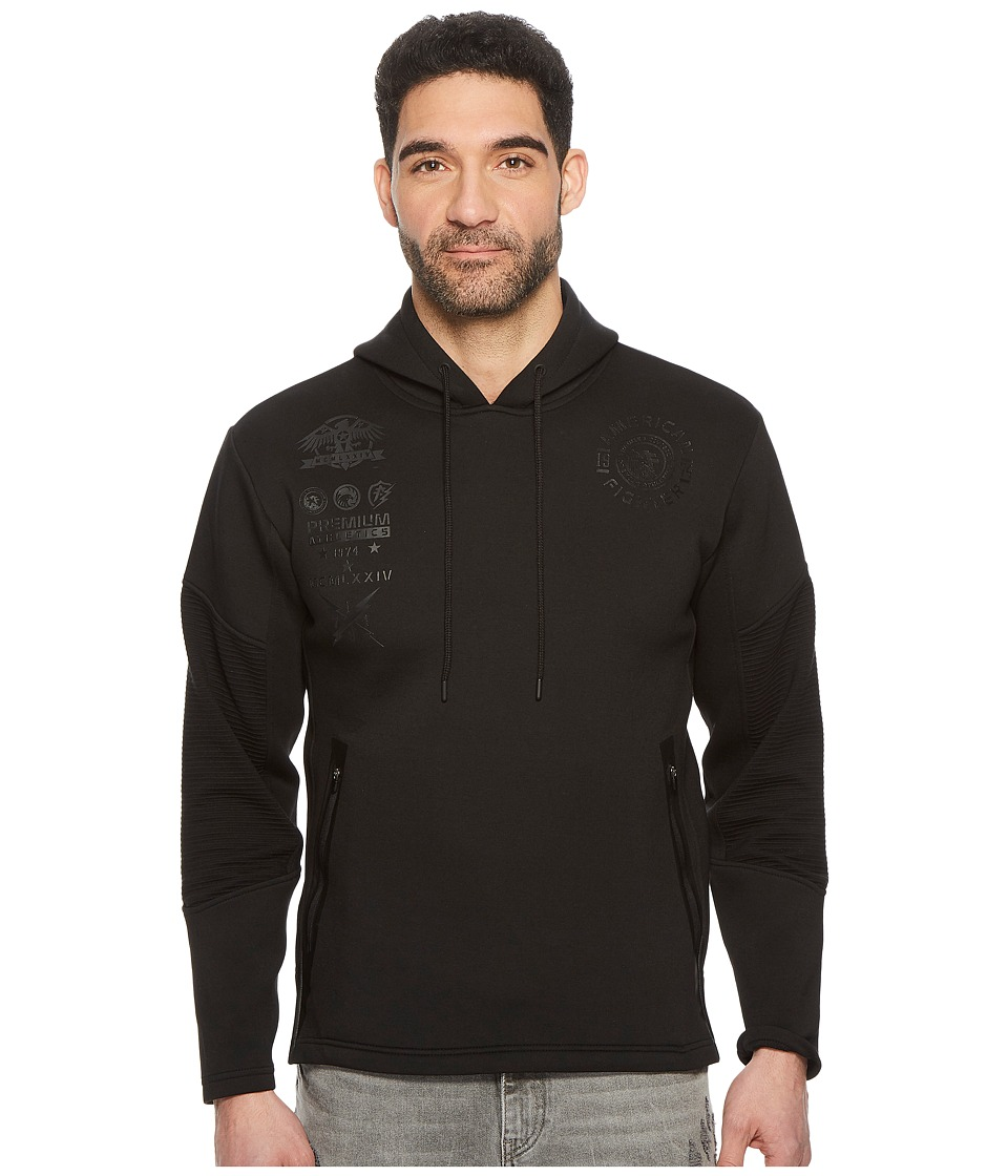 American Fighter - Out Run Pullover (Black) Mens Sweatshirt