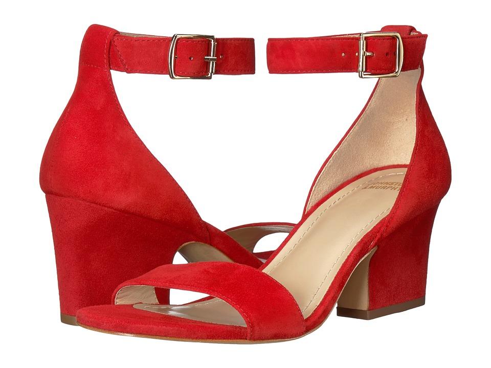 Johnston & Murphy - Deena (Red Kid Suede) Womens Hook and Loop Shoes