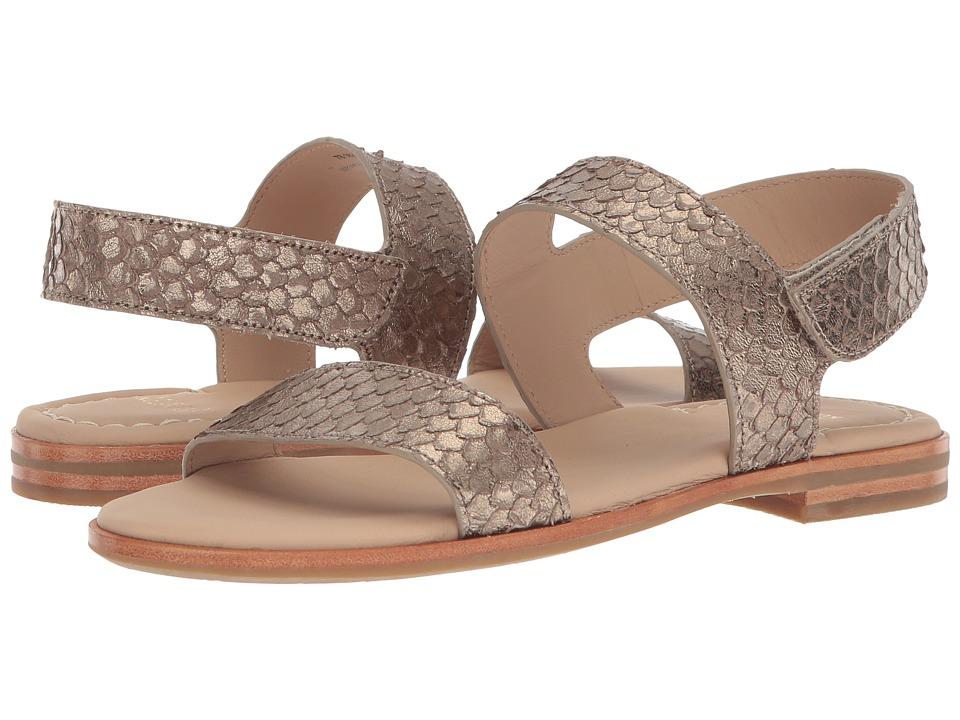 Johnston & Murphy Rosalie (Light Pewter Metallic Snake Print Leather) Women's Dress Sandals