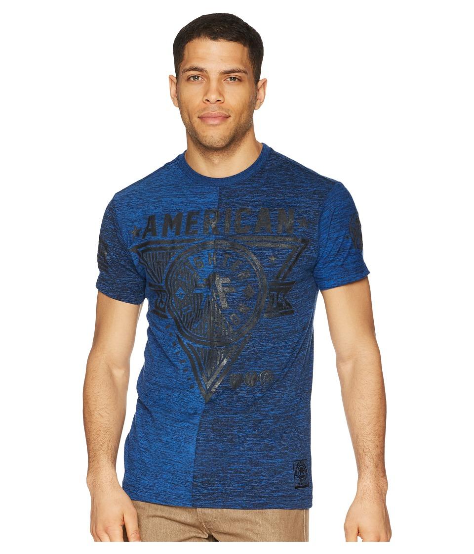 American Fighter - Siena Heights Short Sleeve Crew Tee (Black/Blue) Mens T Shirt