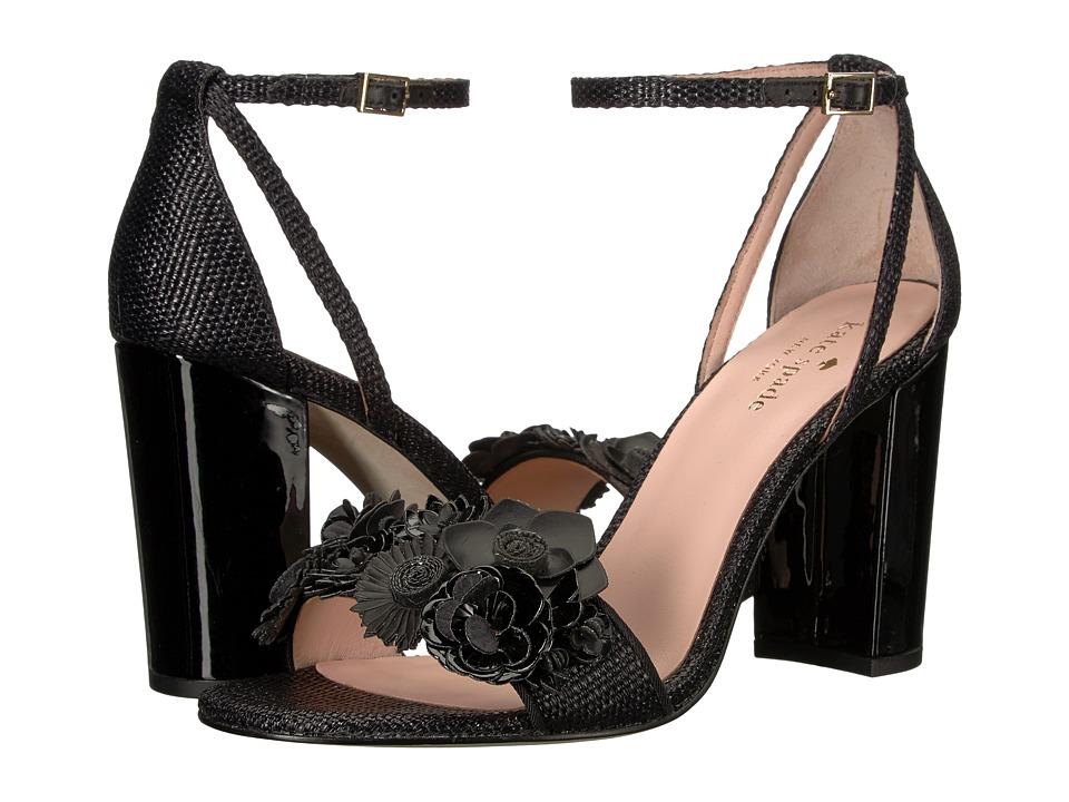Kate Spade New York Obelie (Black Raffia) Women's Shoes