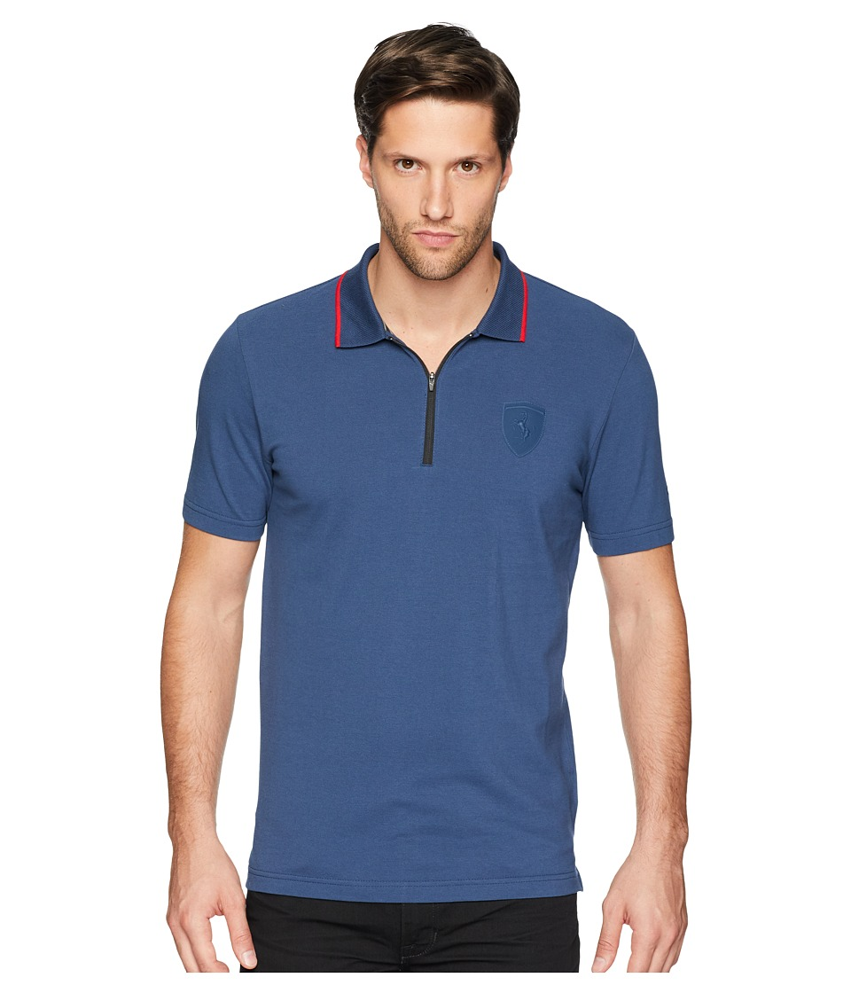 PUMA - Ferrari Polo (Sargasso Sea) Mens Short Sleeve Pullover