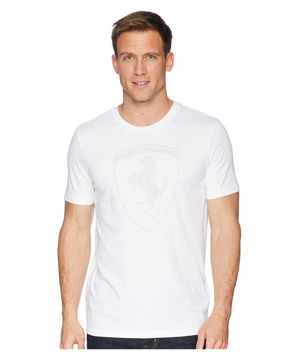 PUMA - Ferrari Big Shield Tee (PUMA White) Mens T Shirt