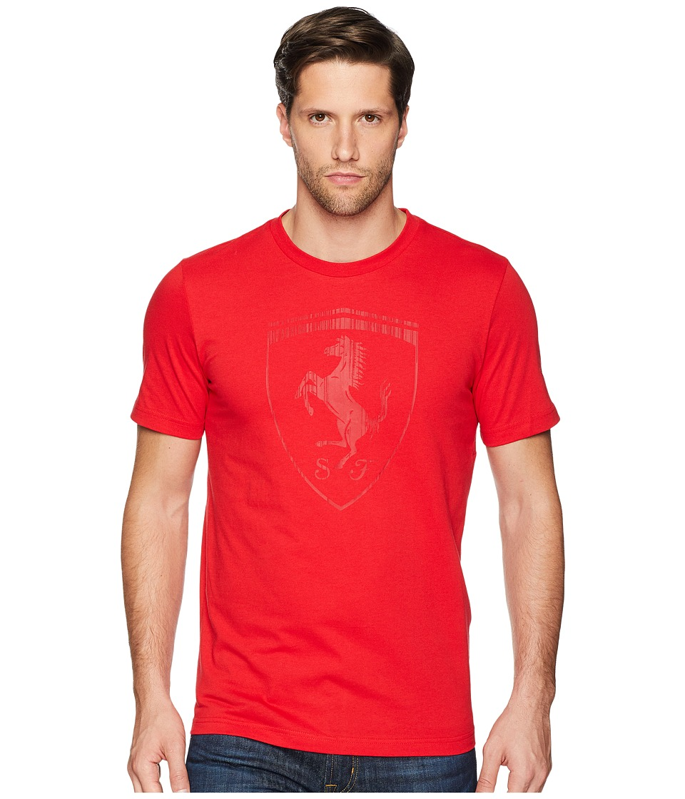 Puma Ferrari Big Shield Tee (Rosso Corsa 2) Men's T Shirt