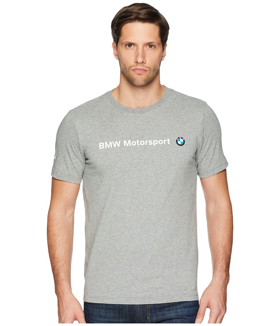 PUMA - BMW MSP Logo Tee (Medium Gray Heather) Mens Short Sleeve Pullover