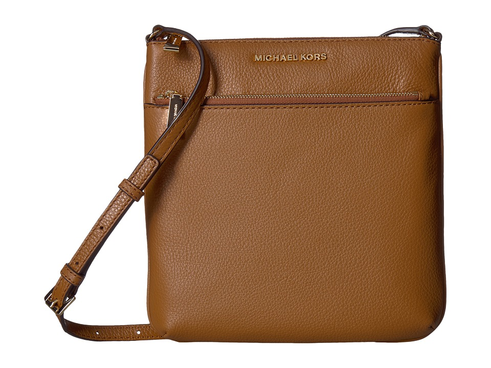 MICHAEL Michael Kors - Riley Small Flat Crossbody (Acorn) Cross Body Handbags