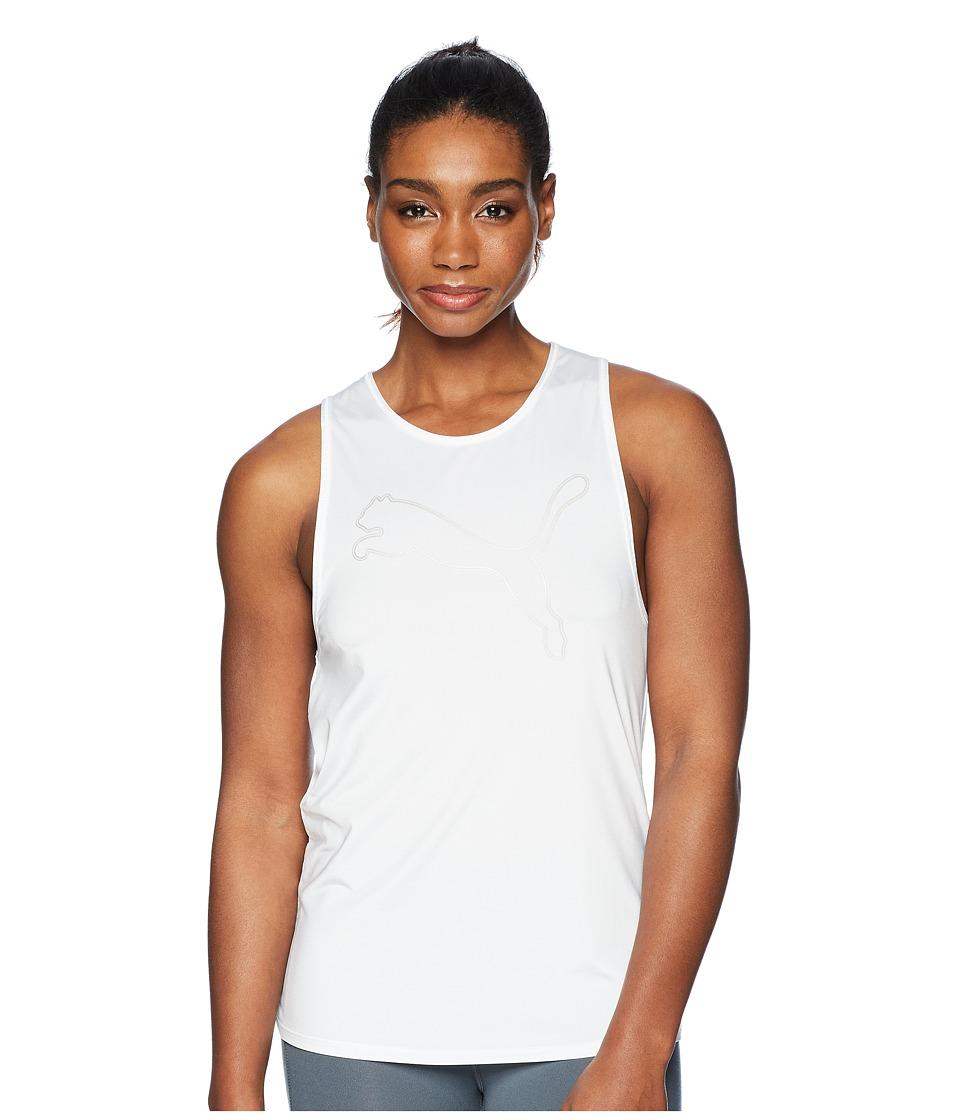 PUMA - Oceanaire Logo Tank Top (Puma White Heather) Womens Sleeveless