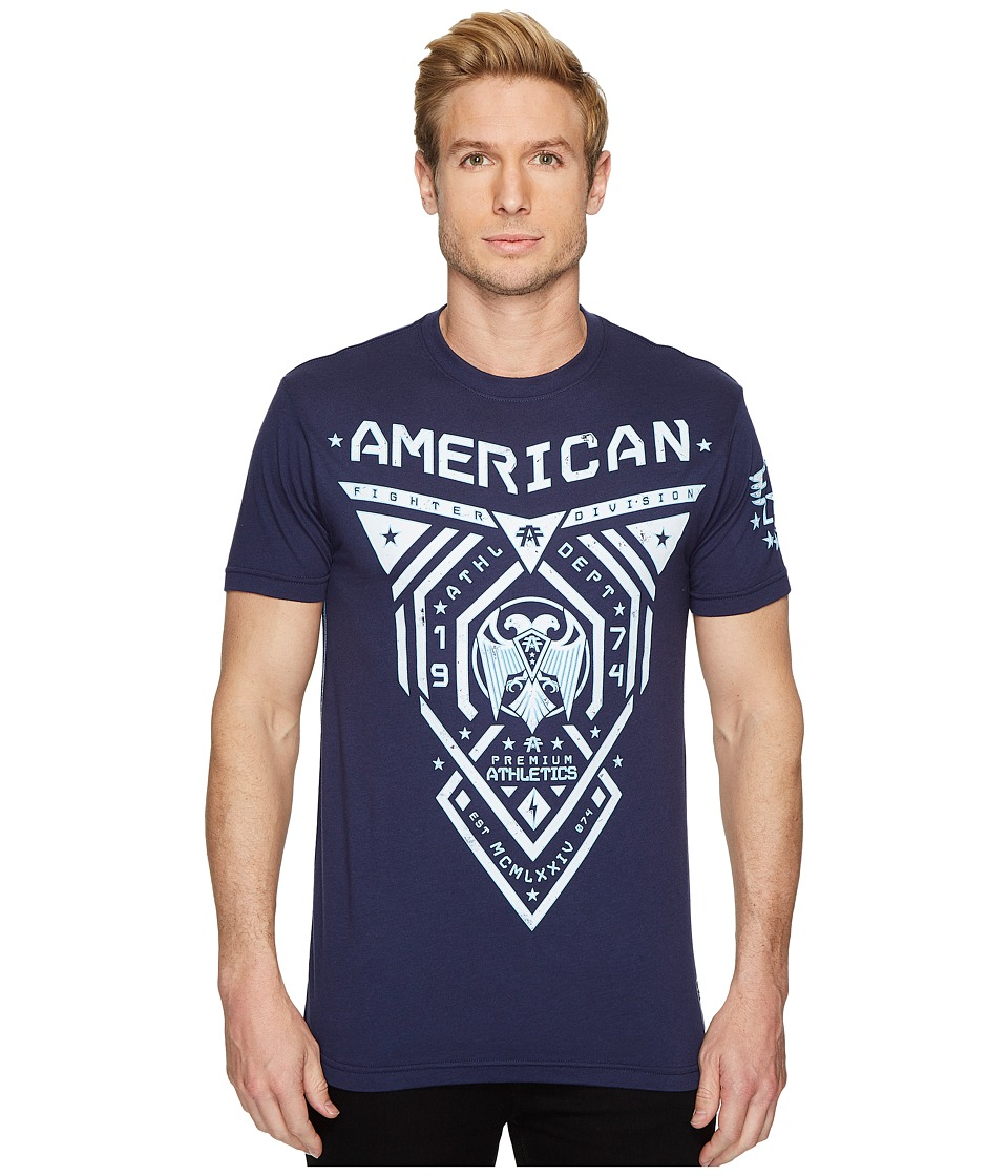 Image of American Fighter - Blue Mountain Short Sleeve Tee (Dark Navy) Men's T Shirt