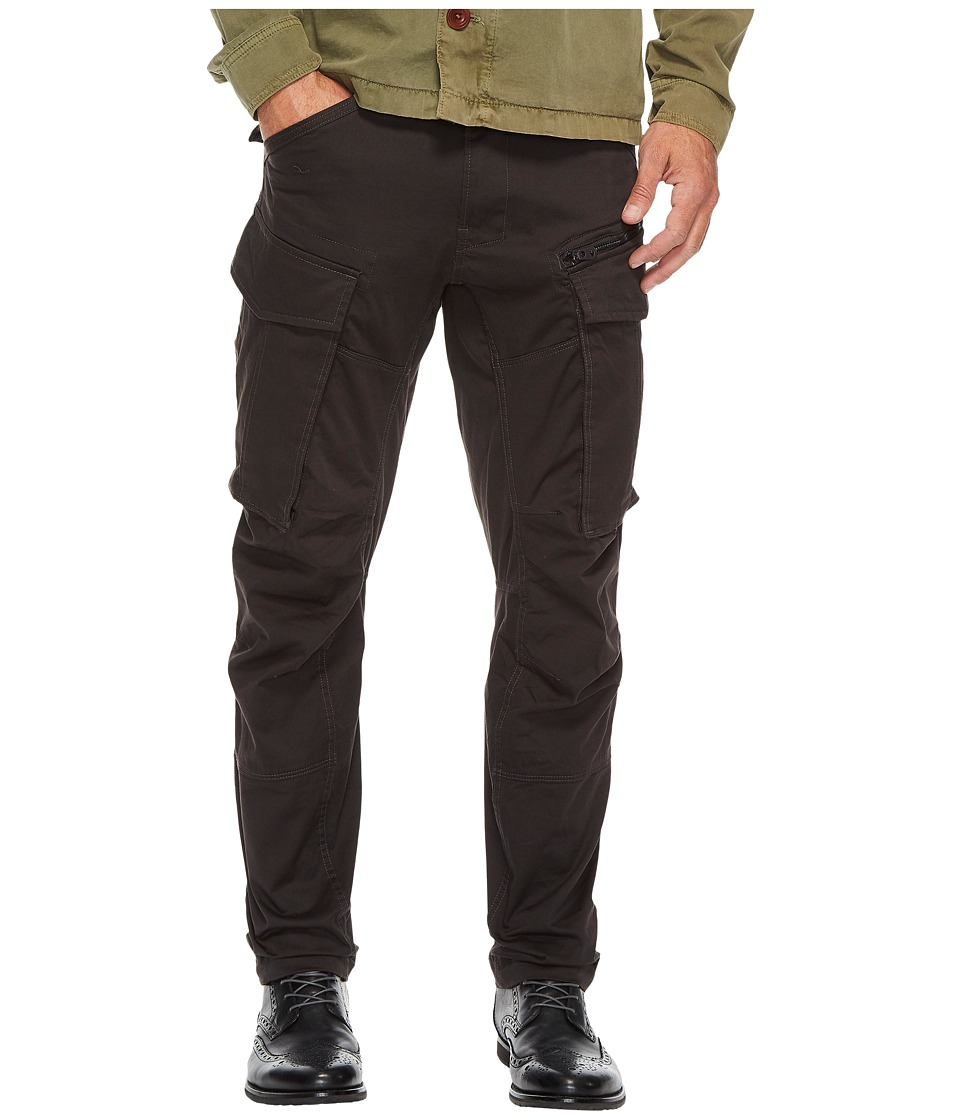 G-Star - Rovic Zip 3D Tapered Fit Pants in Premium Micro Stretch Twill Raven (Raven) Mens Clothing