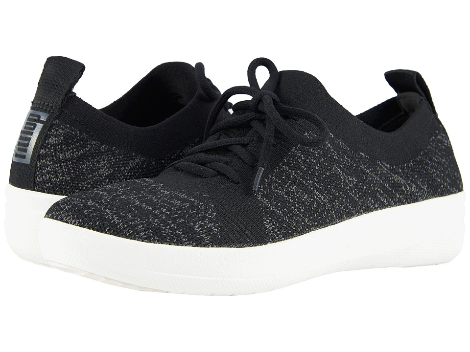 FitFlop - F-Sporty Uberknit Sneakers (Black) Womens Lace up casual Shoes