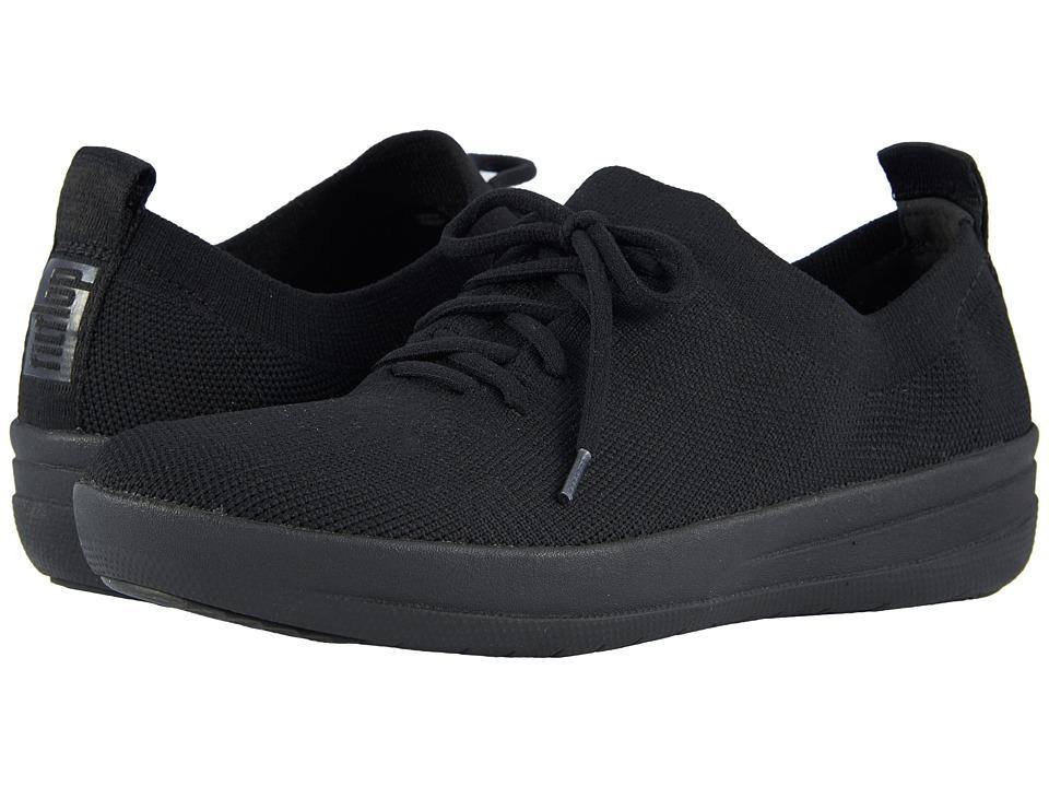 FitFlop F-Sporty Uberknit Sneakers (All Black)