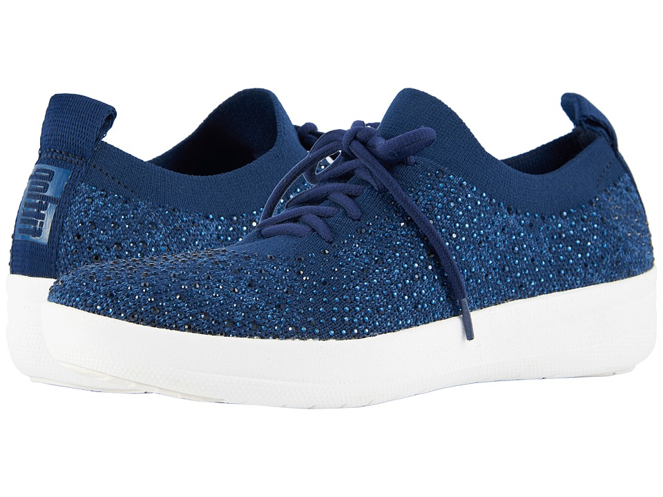 FitFlop FSporty Uberknit Sneakers Midnight Navy Womens Lace up casual  Shoes