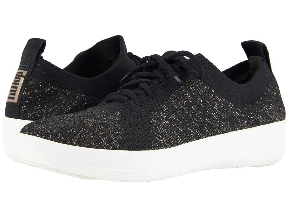 FitFlop F-Sporty Uberknit Sneakers (Black/Metallic Bronze)