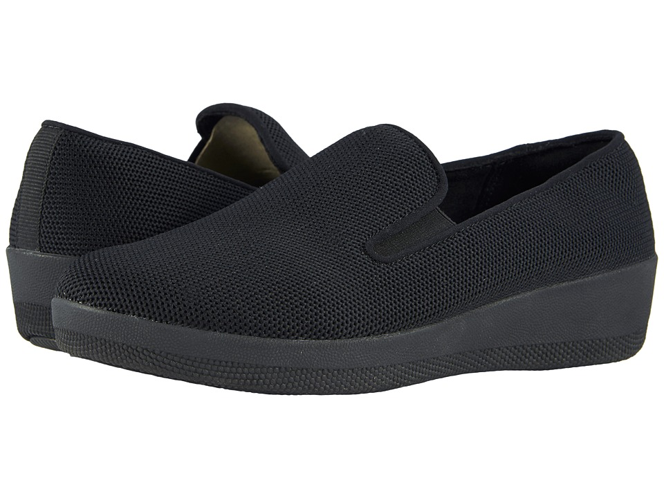 FitFlop - Superskate Uberknit Loafers (All Black) Womens Slip on  Shoes