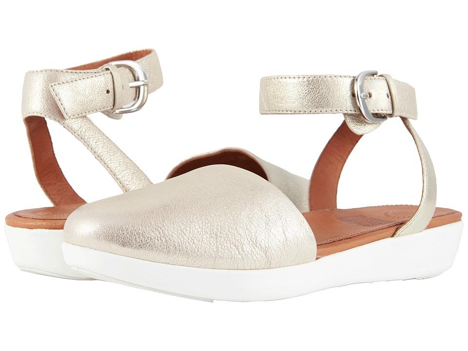 FitFlop Cova Closed Toe Sandals (Metallic Silver) Sandals