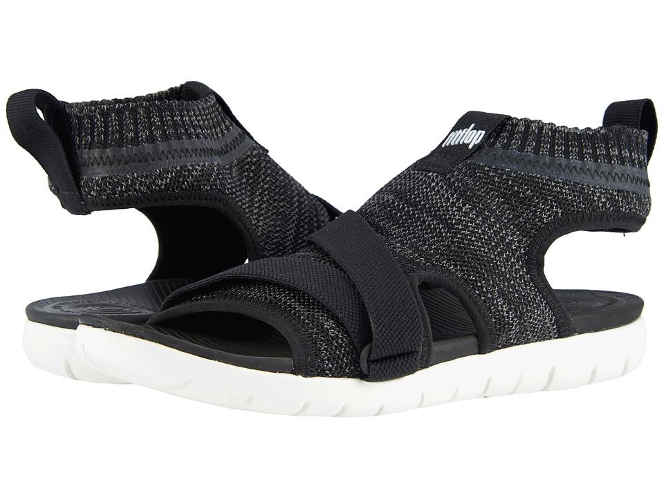FitFlop - Uberknit Back Strap Sandals (Black/Soft Grey) Womens Sandals