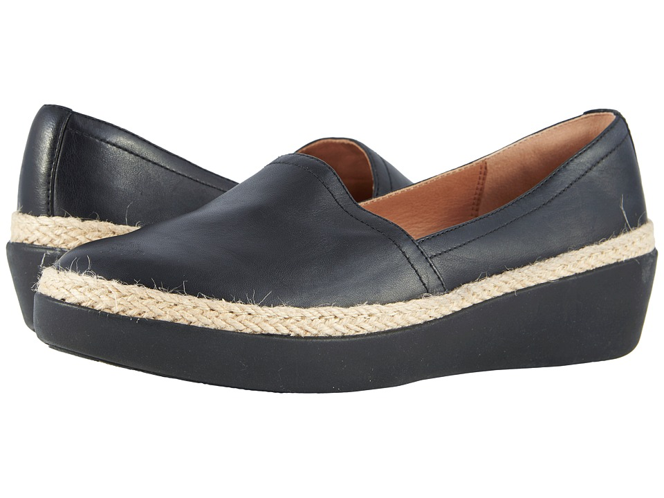 FitFlop - Casa Loafers (Black) Womens Slip on  Shoes