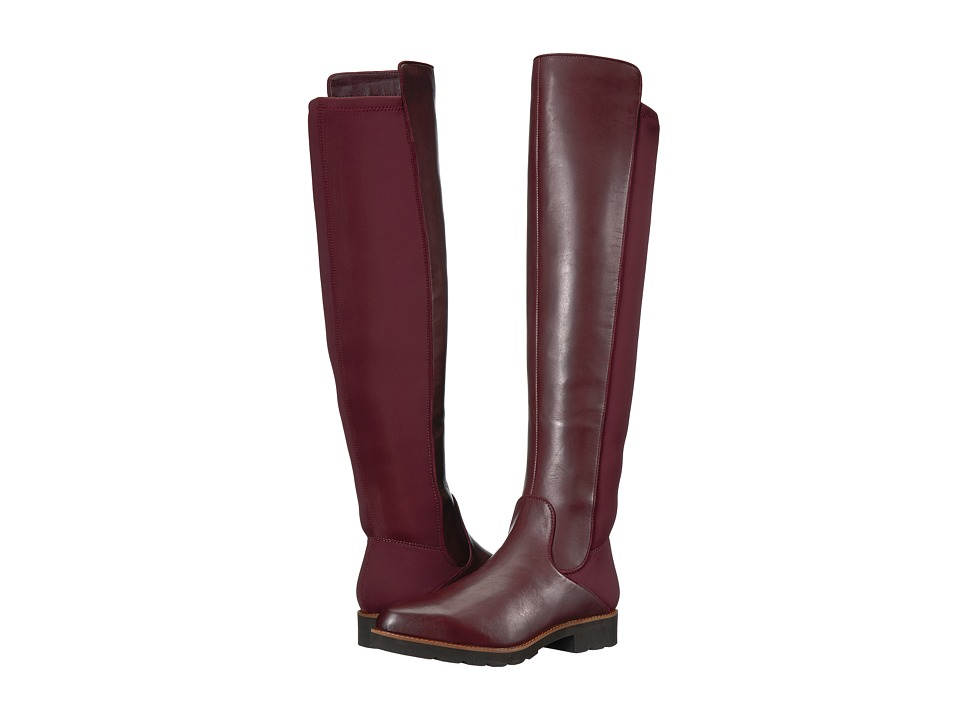Franco Sarto - Benner by SARTO (Dark Burgundy Leather/Stretch Lycra) Womens Boots