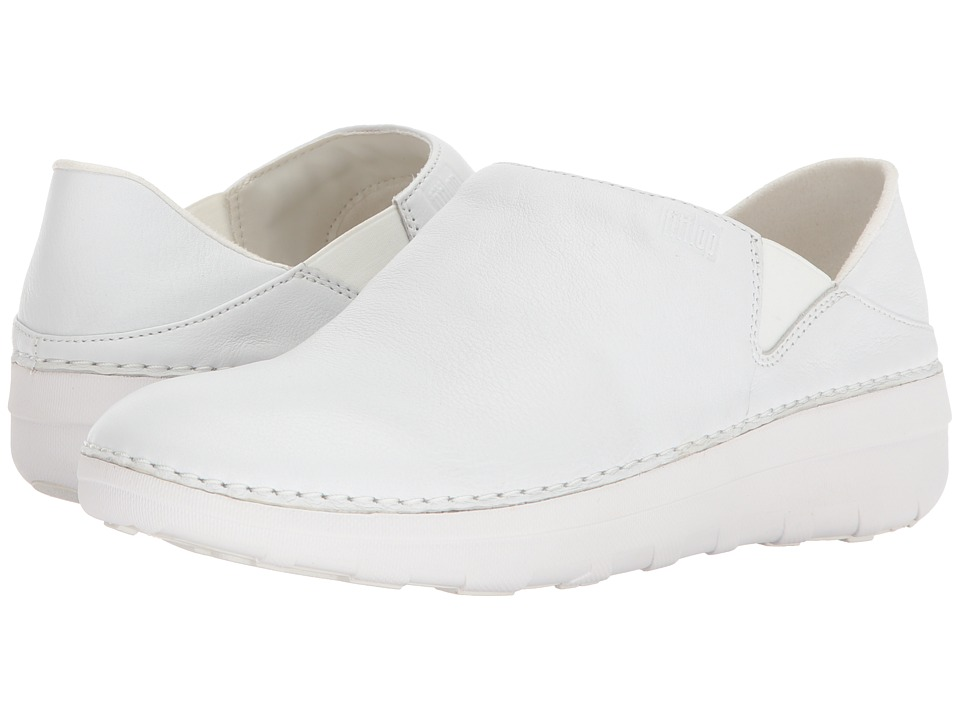 FitFlop - Superloafer Leather (Urban White) Womens  Shoes
