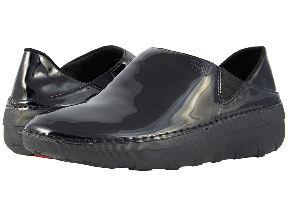 FitFlop - Superloafer Patent (Black) Womens Slip on  Shoes