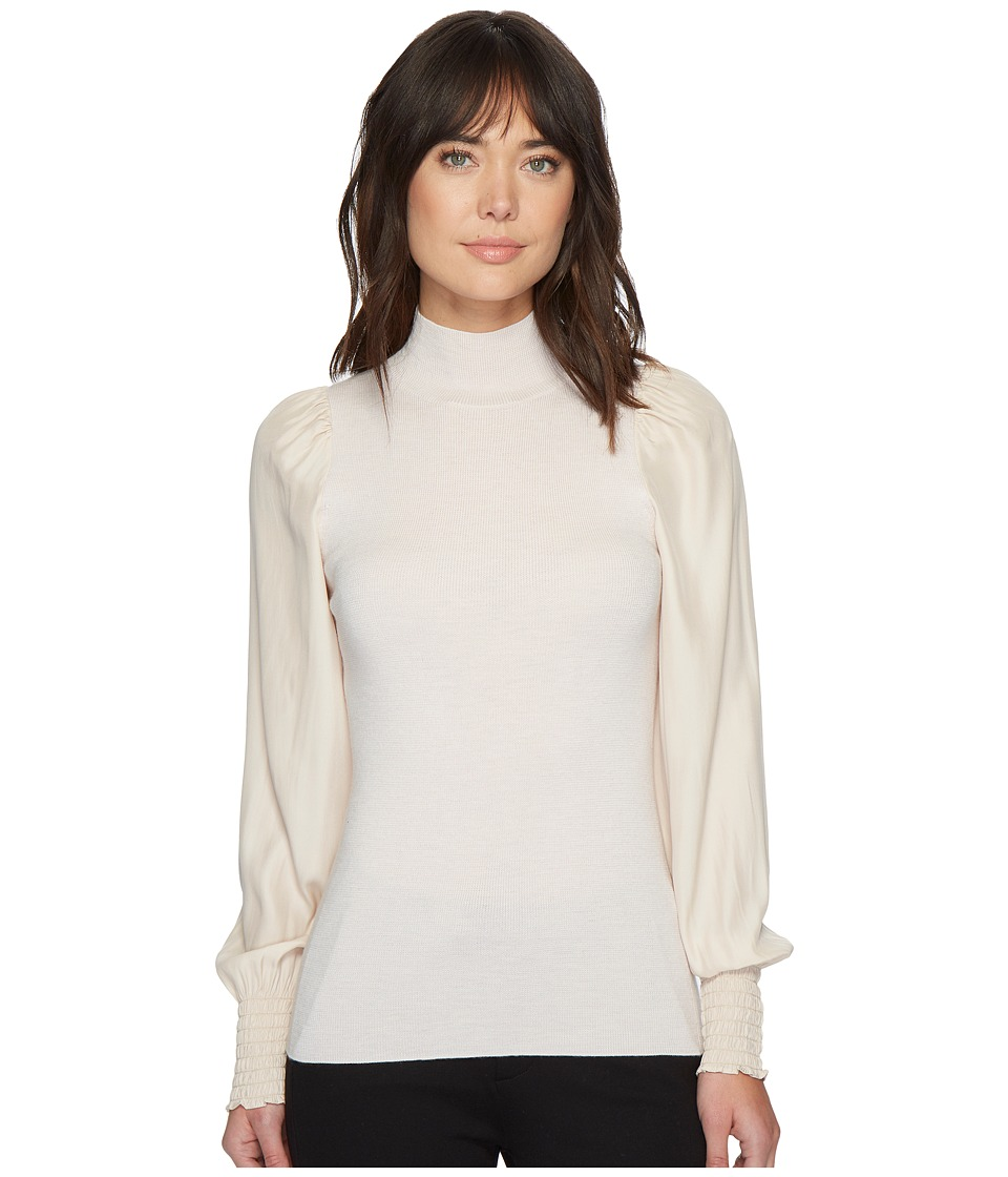 Rebecca Taylor - Merino Turtleneck Pullover (Champagne) Womens Long Sleeve Pullover