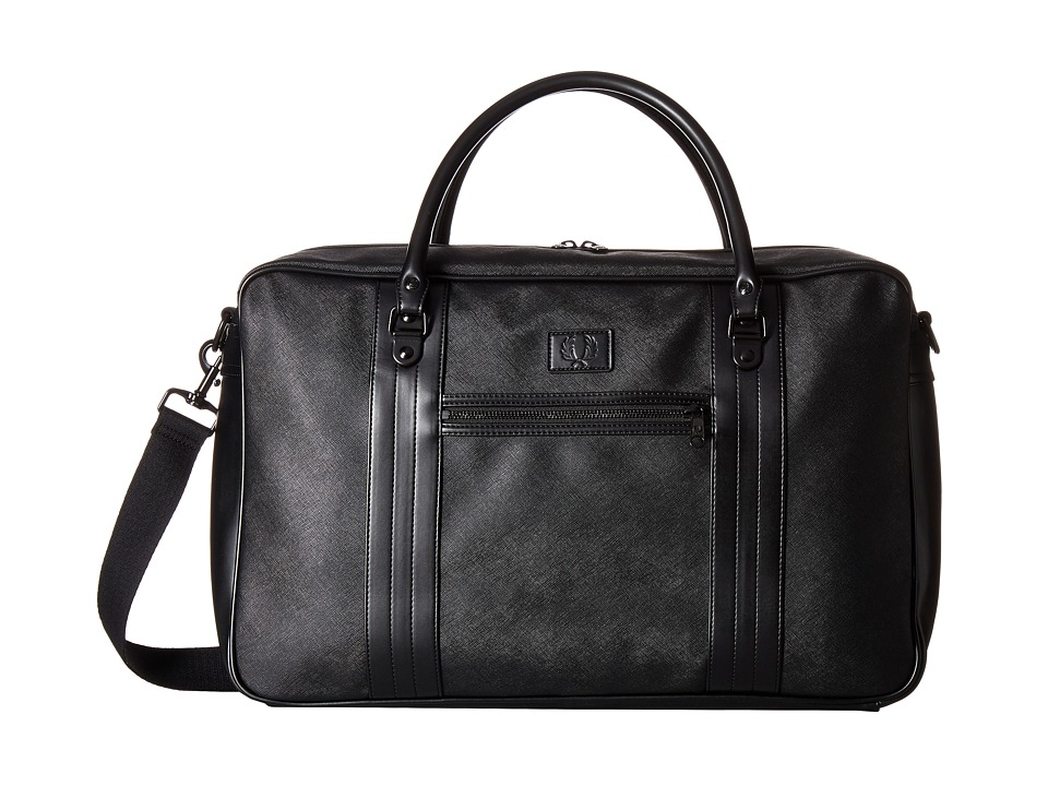 Fred Perry - Saffiano Overnight Bag (Black) Bags