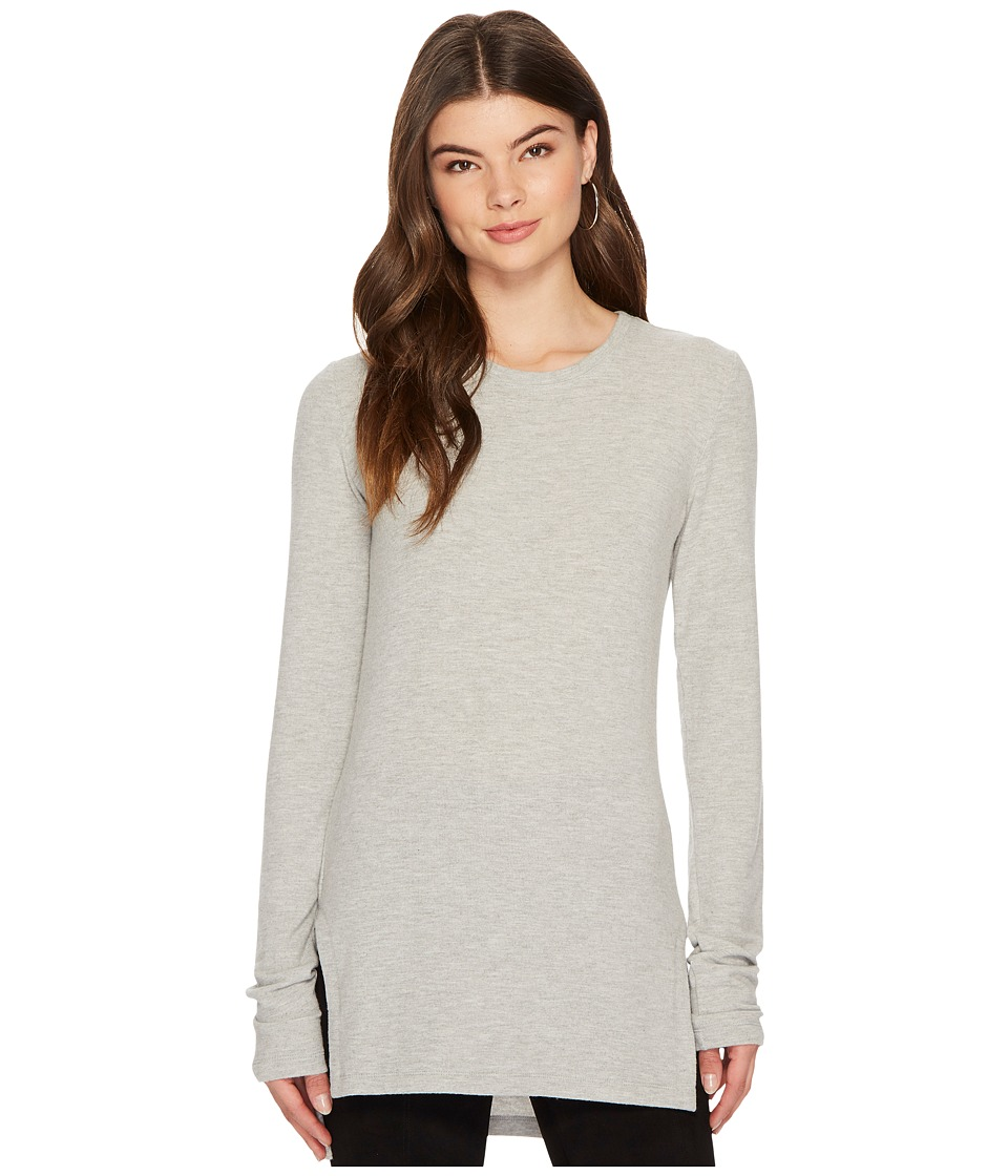 HEATHER - Brushed Hacci Long Sleeve Scoop Neck Top