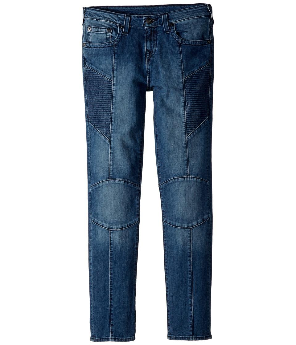 True Religion Kids Rocco Moto Jeans in Shaded Blue (Big Kids) (Shaded Blue) Boy
